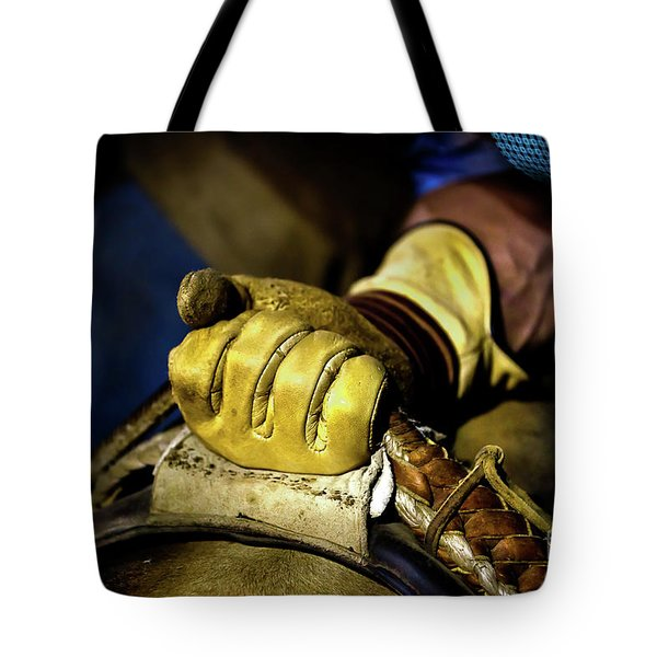 Cowboy Leather Grip Tote Bag