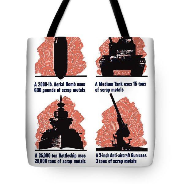 Get In The Scrap - Ww2 Tote Bag