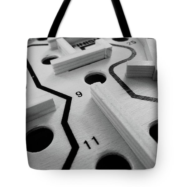 Get Me To The Finish Tote Bag