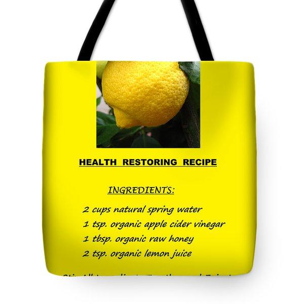 Get Well Soon Tote Bag by Mary Ellen Frazee