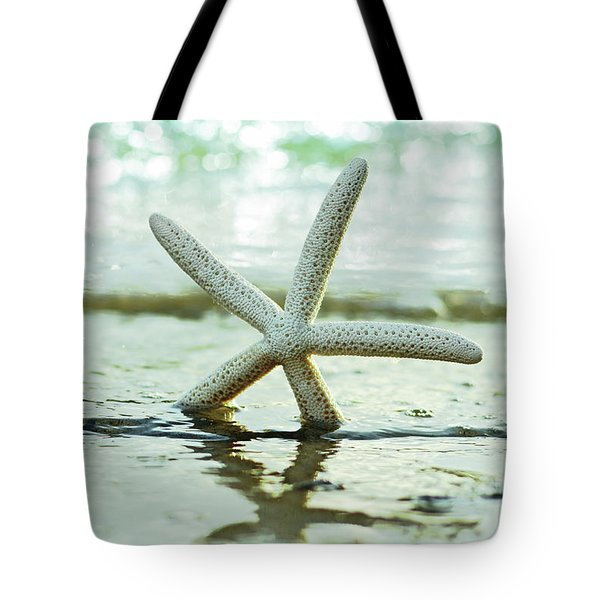 Tote Bag featuring the photograph Get Your Feet Wet by Laura Fasulo