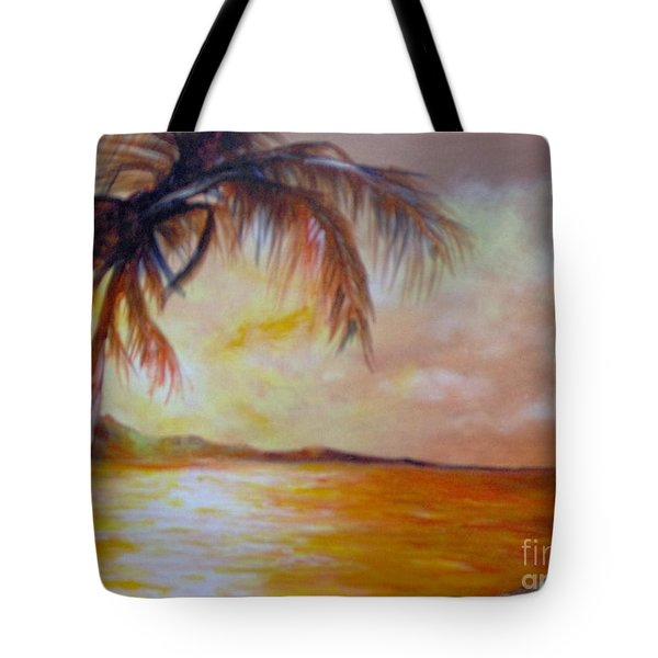 Tote Bag featuring the painting Getaway by Saundra Johnson