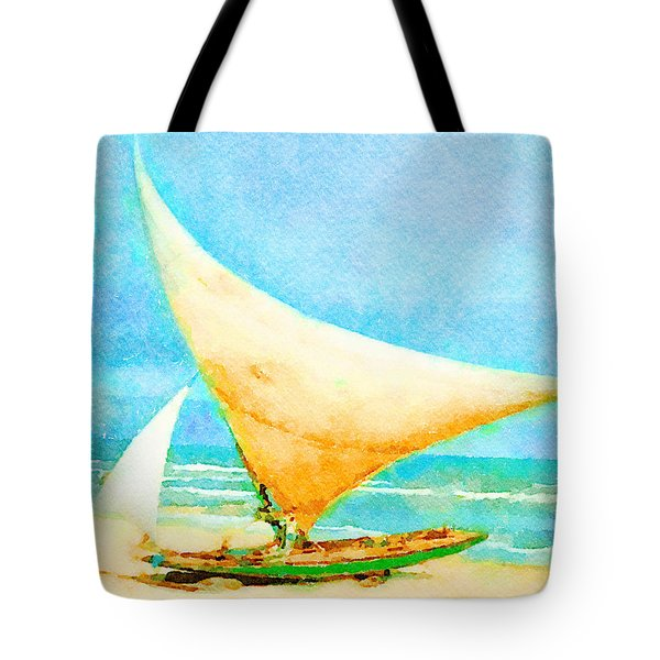 Tote Bag featuring the painting Getting Ready To Go Out by Angela Treat Lyon