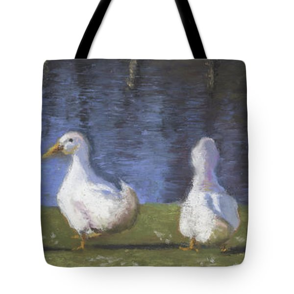 Getting Your Ducks In A Row Tote Bag by Terri  Meyer