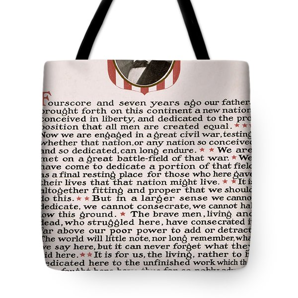 Gettysburg Address Tote Bag by International  Images