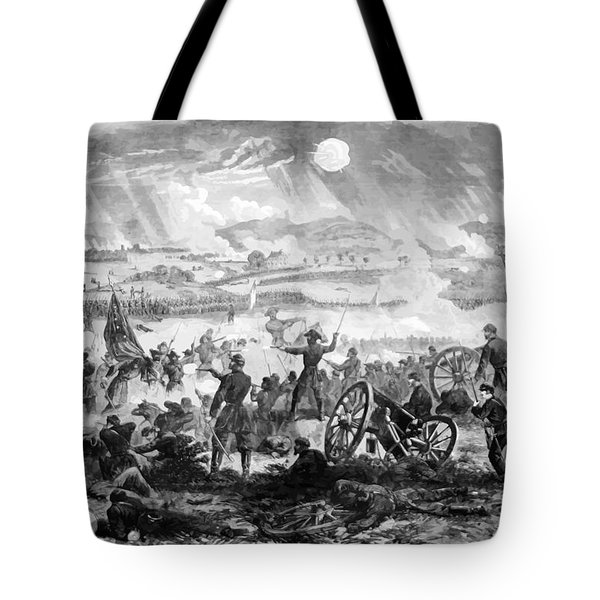Gettysburg Battle Scene Tote Bag by War Is Hell Store