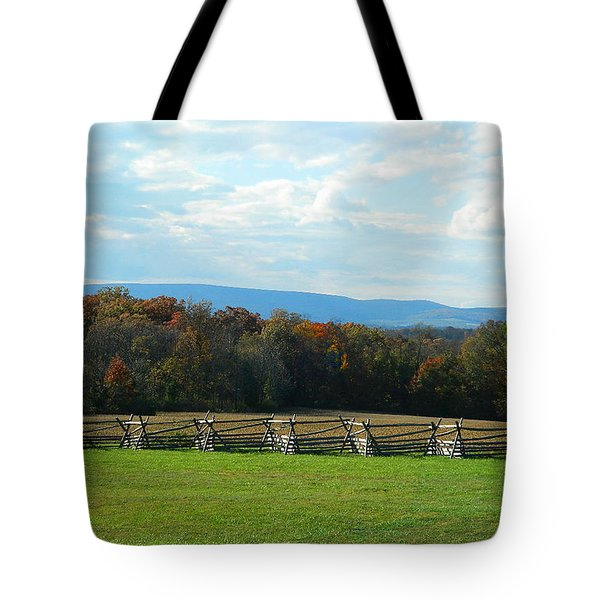 Tote Bag featuring the photograph Gettysburg Battlefield And Beyond by Emmy Marie Vickers