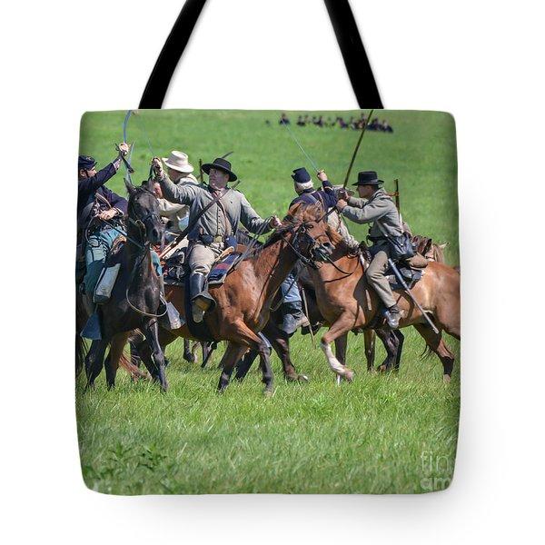 Gettysburg Cavalry Battle 7948c  Tote Bag