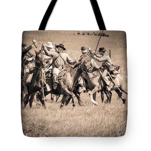 Gettysburg Cavalry Battle 7948s  Tote Bag