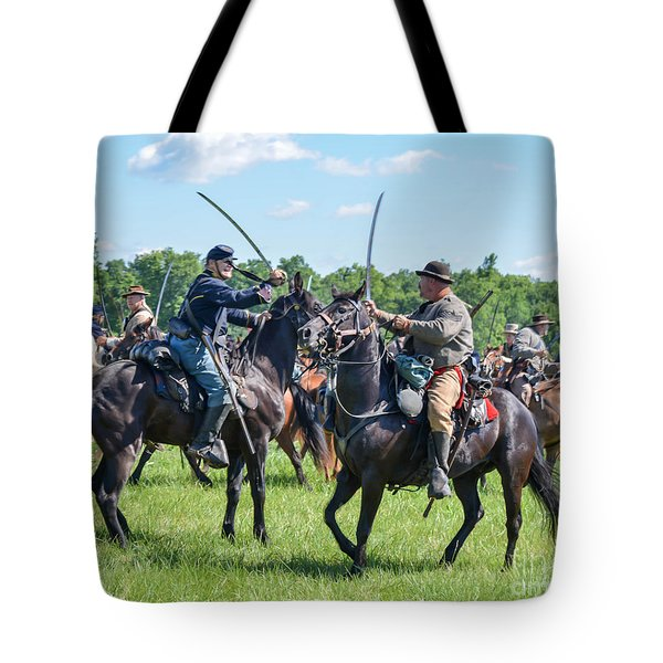Gettysburg Cavalry Battle 7978c  Tote Bag
