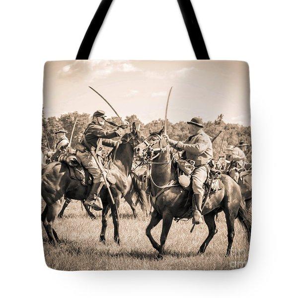 Gettysburg Cavalry Battle 7978s  Tote Bag