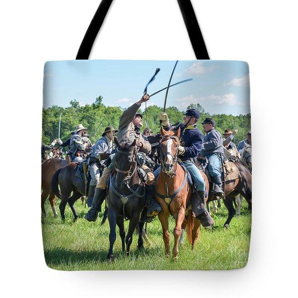 Gettysburg Cavalry Battle 7992c  Tote Bag