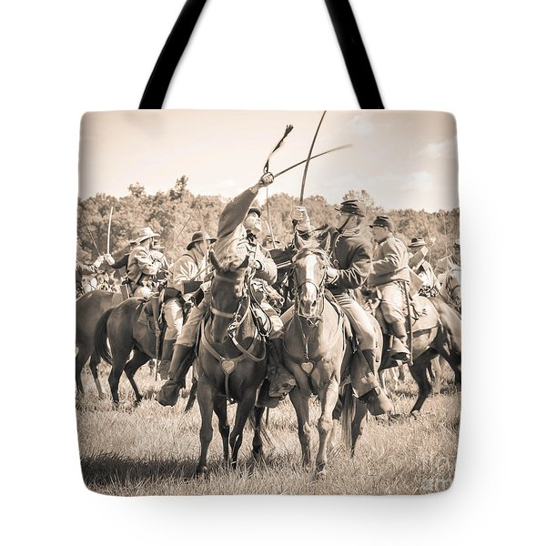 Gettysburg Cavalry Battle 7992s  Tote Bag