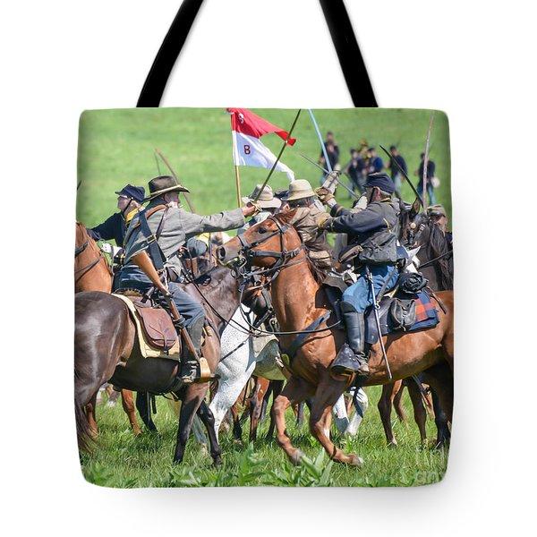 Gettysburg Cavalry Battle 8021c  Tote Bag