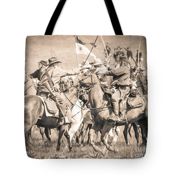 Gettysburg Cavalry Battle 8021s  Tote Bag