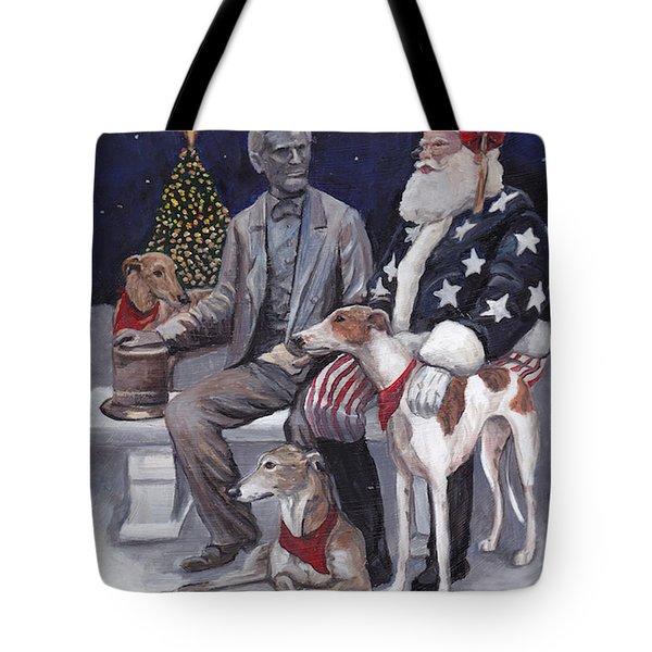Gettysburg Christmas Tote Bag by Charlotte Yealey