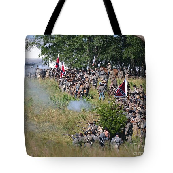 Gettysburg Confederate Infantry 8825c Tote Bag