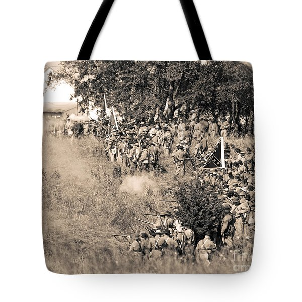 Gettysburg Confederate Infantry 8825s Tote Bag