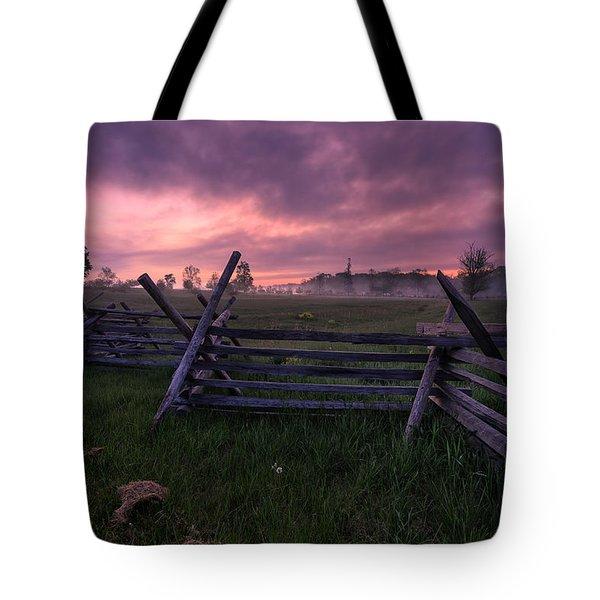 Gettysburg Mornings... Tote Bag