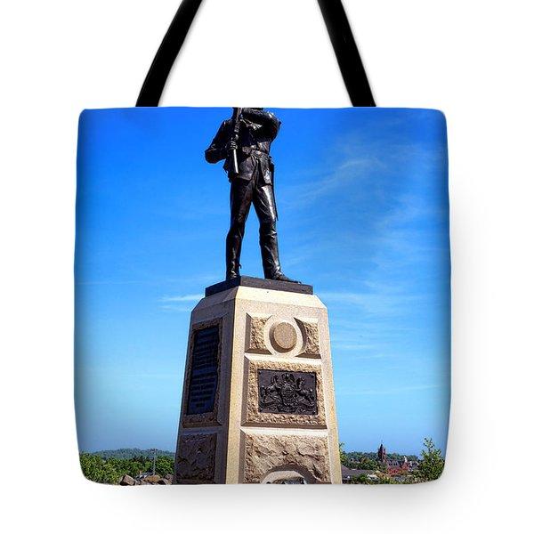 Gettysburg National Park 11th Pennsylvania Infantry Memorial Tote Bag