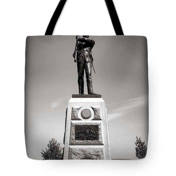 Gettysburg National Park 11th Pennsylvania Infantry Monument Tote Bag