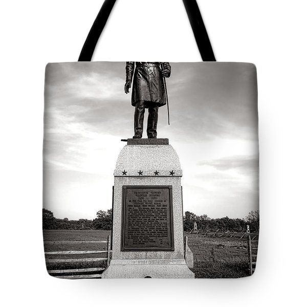 Gettysburg National Park 13th Vermont Infantry Monument Tote Bag