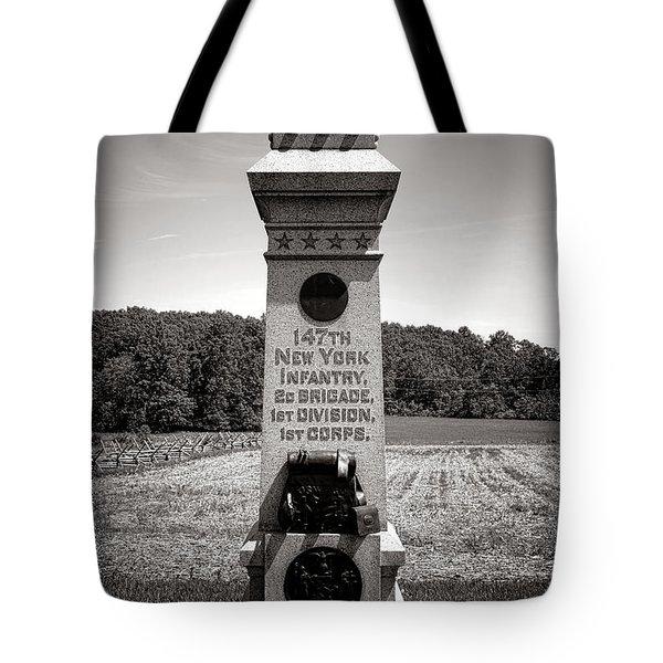 Gettysburg National Park 147th New York Infantry Monument Tote Bag