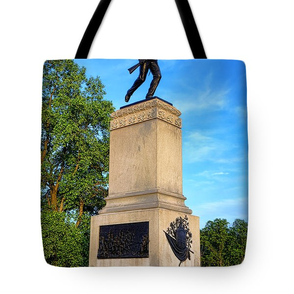 Gettysburg National Park 1st Minnesota Infantry Memorial Tote Bag
