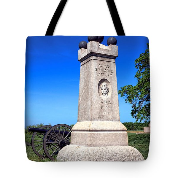 Gettysburg National Park 2nd Maine Battery Memorial Tote Bag