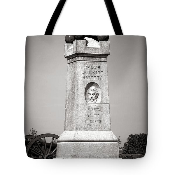Gettysburg National Park 2nd Maine Battery Monument Tote Bag