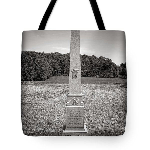 Gettysburg National Park 3rd Indiana Cavalry Monument Tote Bag
