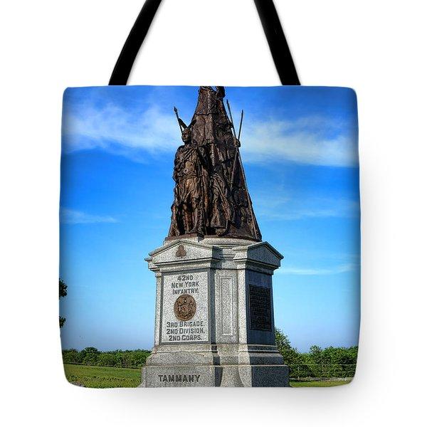 Gettysburg National Park 42nd New York Infantry Memorial Tote Bag