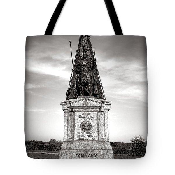 Gettysburg National Park 42nd New York Infantry Monument Tote Bag