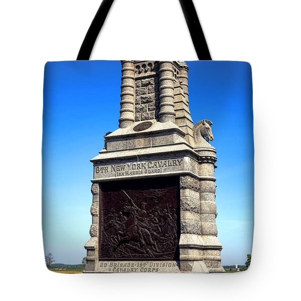 Gettysburg National Park 6th New York Cavalry Memorial Tote Bag