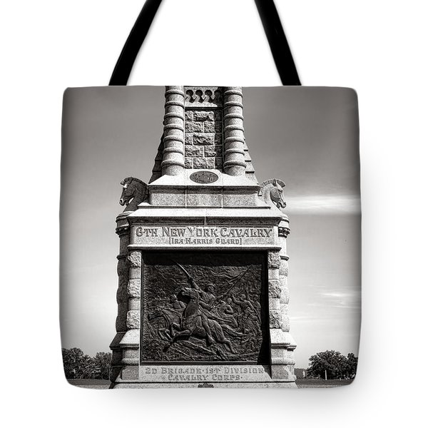Gettysburg National Park 6th New York Cavalry Monument Tote Bag