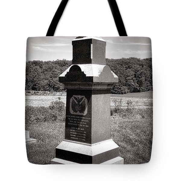 Gettysburg National Park 6th Wisconsin Iron Brigade Monument Tote Bag