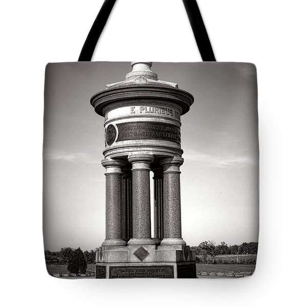 Gettysburg National Park 71st And 72nd New York Infantry Monument Tote Bag