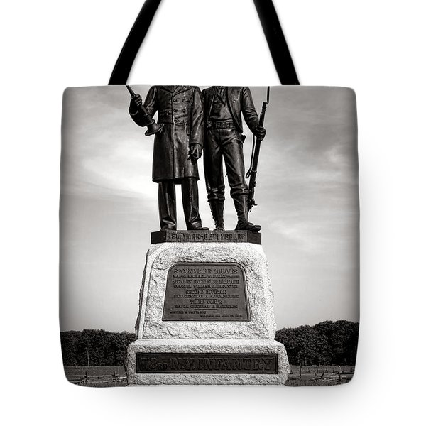 Gettysburg National Park 73rd Ny Infantry 2nd Fire Zouaves Monument Tote Bag