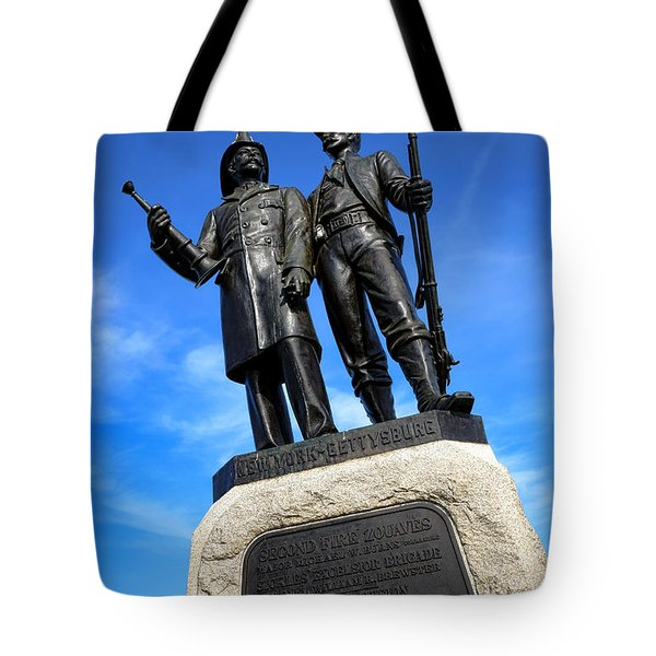 Gettysburg National Park 73rd Ny Infantry Second Fire Zouaves Memorial Tote Bag