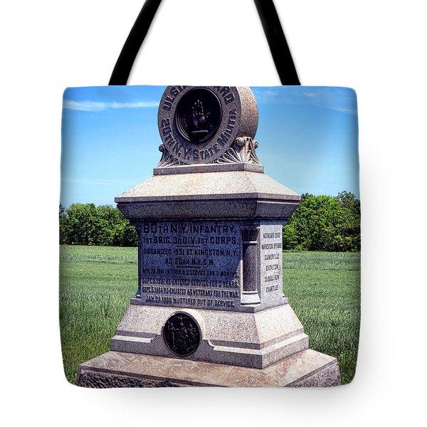 Gettysburg National Park 80th Ny Infantry Militia Memorial Tote Bag
