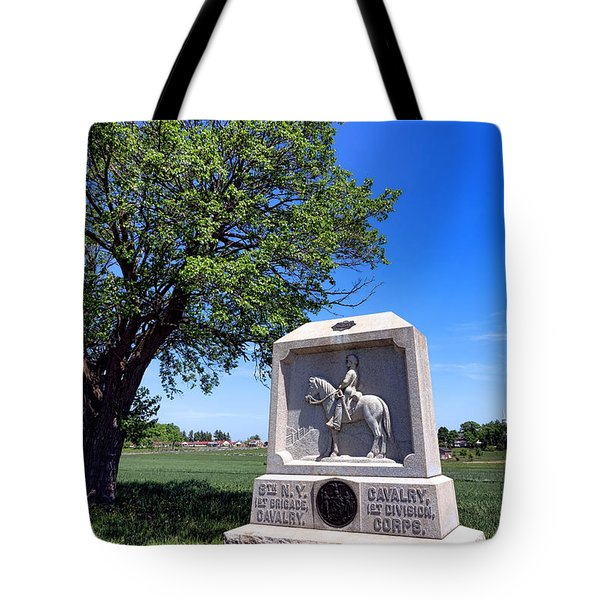 Gettysburg National Park 8th New York Cavalry Memorial Tote Bag