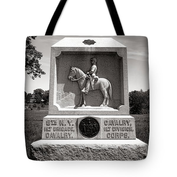 Gettysburg National Park 8th New York Cavalry Monument Tote Bag