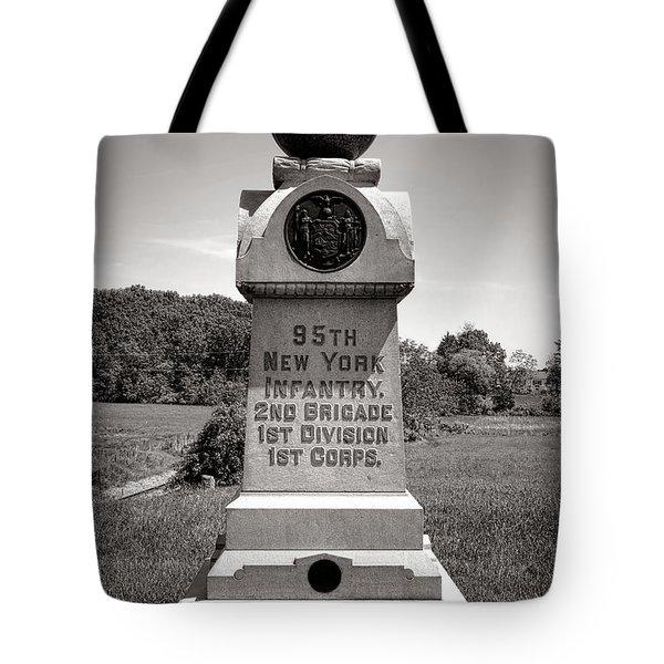 Gettysburg National Park 95th New York Infantry Monument Tote Bag
