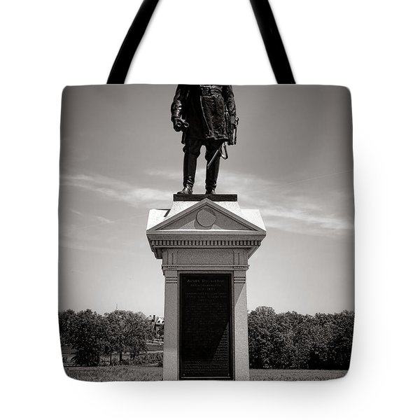 Gettysburg National Park Abner Doubleday Monument Tote Bag