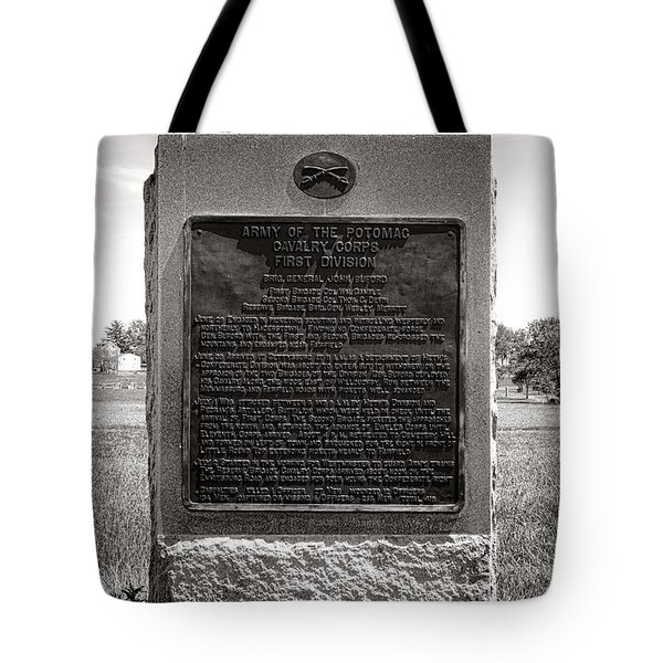 Gettysburg National Park Army Of The Potomac Cavalry Corps Monument Tote Bag