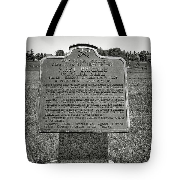 Gettysburg National Park Army Of The Potomac First Brigade Monument Tote Bag