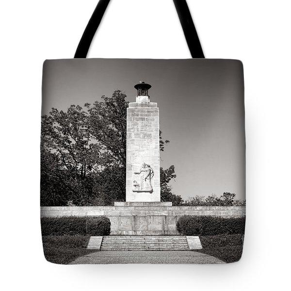 Gettysburg National Park Eternal Light Peace Monument Tote Bag