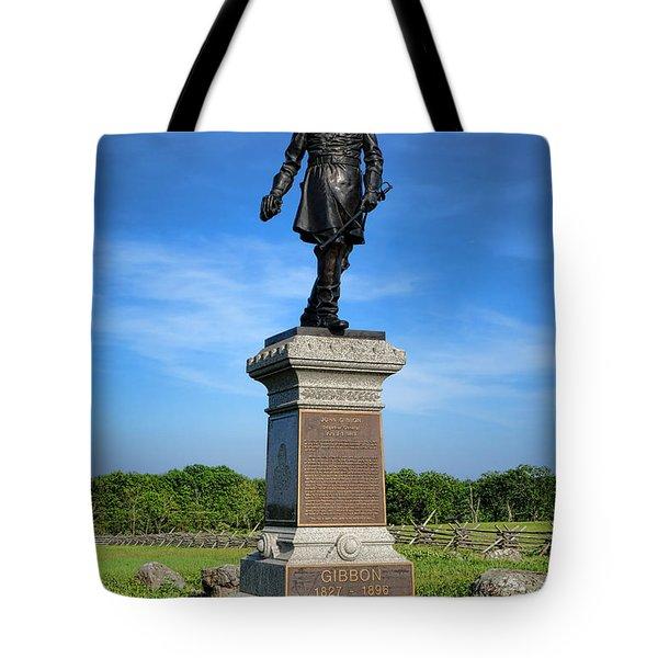 Gettysburg National Park John Gibbon Memorial Tote Bag