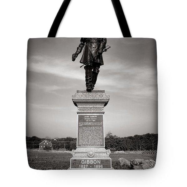 Gettysburg National Park John Gibbon Monument Tote Bag