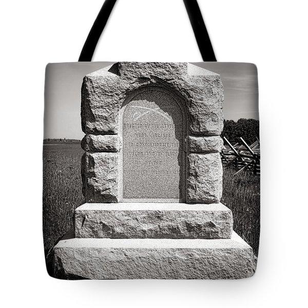 Gettysburg National Park Third West Virginia Cavalry Monument Tote Bag